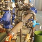 Detail Fernwärmeübergabestation