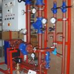 Fernwärmeübergabestation  mit Schaltschrank und Regelung Fabr. Kieback & Peter